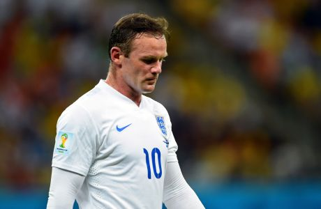 MANAUS, BRAZIL - JUNE 14:  Wayne Rooney of England looks on during the 2014 FIFA World Cup Brazil Group D match between England and Italy at Arena Amazonia on June 14, 2014 in Manaus, Brazil.  (Photo by Stuart Franklin - FIFA/FIFA via Getty Images)