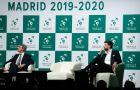 Ο Πικέ παρακολουθεί την επίσημη παρουσίαση της Μαδρίτης ως διοργανώτριας πόλης του Davis Cup για το 2019 και το 2020.