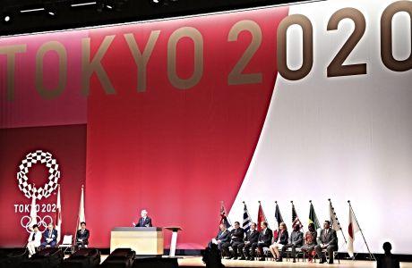 Ο Τόμας Μπαχ απευθύνει λόγο προς την διοργανωτική επιτροπή των Ολυμπιακών Αγώνων του Τόκιο 2020.