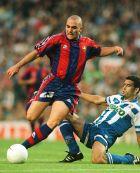 Ο Ιβάν ντε λα Πένια σε αγώνα της Μπαρτσελόνα με την Ντέπορ για την ισπανική Λίγκα (24/5/1997).