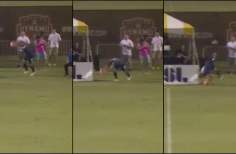 Απίθανο γκολ μετά από πλάγιο με κωλοτούμπα!