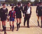 Ο Τσάβι έκανε το ντεμπούτο του με τη Μπάρτσα σε ηλικία 11 ετών και λίγους μήνες αργότερα, ο προπονητής του, Ασένσι, του έδωσε το περιβραχιόνιο του αρχηγού.