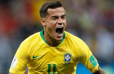 Brazil vs Switzerland ROSTOV DO DON, RO - 17.06.2018: BRAZIL VS SWITZERLAND - Philippe Coutinho of Brazil celebrates after scoring a goal during Brazil-Switzerland match valid for the first round of group E of the 2018 World Cup, held at the Rostov Arena in Rostov on Don, Russia. (Photo: Marcelo Machado de Melo/Fotoarena) x1551713x PUBLICATIONxNOTxINxBRA MarceloxMachadoxdexMelo.