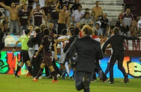 Τρελές εικόνες στην Αργεντινή: Κυνηγούσαν τον διαιτητή! (VIDEO)