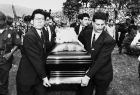 Pallbearers carry the coffin of soccer player Andres Escobar on July 3, 1994 in Medellin, Colombia. Escobar was killed early July 2. He scored an own goal during a soccer game in the World Cup where Colombia lost 2-1 to the United States. (AP Photo/Fernando Llano)