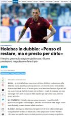 "H ""Corriere dello Sport"" για τη συνέντευξη του Χολέμπας στο Contra.gr"