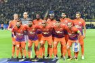APOEL players pose for a team photo prior to the Champions League group H soccer match between Borussia Dortmund and APOEL Nicosia in Dortmund, Germany, Wednesday, Nov. 1, 2017. (AP Photo/Martin Meissner)
