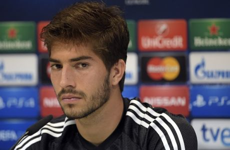 Real Madrid's Brazilian midfielder Lucas Silva attends a press conference on the eve of the UEFA Champions League football match Real Madrid CF vs FC Schalke 04 at Valdebebas training ground in Madrid on March 9, 2015.   AFP PHOTO / GERARD JULIEN        (Photo credit should read GERARD JULIEN/AFP/Getty Images)