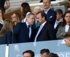 Ο Άνχελ Τόρες, πρόεδρος της Χετάφε, μαζί με τον ομόλογό του της Ρεάλ Μαδρίτης, Φλορεντίνο Πέρεθ.