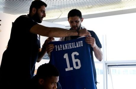 19/06/2017 National Basketball Team's new jersey presentation  Photo by: Andreas Papakonstantinou / Tourette Photography