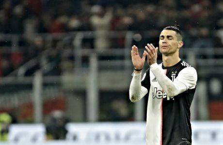 Ο Κριστιάνο Ρονάλντο επιστρέφει το χειροκρότημα προς τους οπαδούς της Γιουβέντους, στο φινάλε της αναμέτρησης με την Μίλαν για το Κύπελλο Ιταλίας