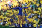 SAO PAULO, BRAZIL - JUNE 12:  Signer Claudia Leitte performs during the Opening Ceremony of the 2014 FIFA World Cup Brazil prior to the Group A match between Brazil and Croatia at Arena de Sao Paulo on June 12, 2014 in Sao Paulo, Brazil.  (Photo by Buda Mendes/Getty Images)