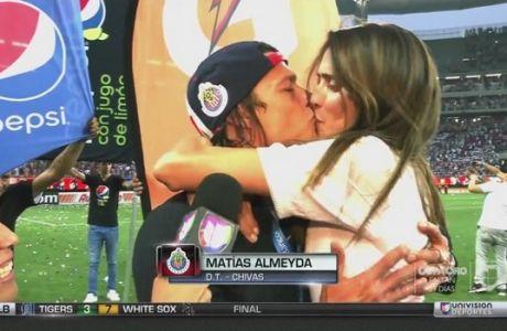 """Μάγκας Αλμέιδα: πήρε το νταμπλ, κέρδισε και """"καυτό"""" φιλί!"""