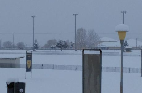 """""""Χάθηκε"""" στο χιόνι το προπονητικό κέντρο του ΠΑΣ Γιάννινα"""