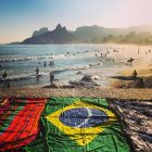 RIO DE JANEIRO, BRAZIL - JUNE 08:  (EDITORS NOTE: THIS IMAGE HAS BEEN CREATED WITH THE USE OF DIGITAL FILTERS) Beach towels and sarong's are seen on Ipanema beach on June 8, 2014 in Rio de Janeiro, Brazil.  (Photo by Clive Rose/Getty Images)