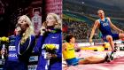 Οι πρωταγωνιστές και οι πρωταγωνίστριες στον τελικό του επί κοντώ σε άντρες και γυναίκες στο Παγκόσμιο Πρωτάθλημα Στίβου.