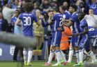 Chelsea's Eden Hazard,2nd left, celebrates after scoring his side's third goal during the English FA Cup semifinal soccer match between Chelsea and Tottenham Hotspur at Wembley stadium in London, Saturday, April 22, 2017. (AP Photo/Tim Ireland)