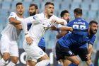 Ο Δημήτρης Χατζηισαΐας του Ατρομήτου σε διεκδίκηση της μπάλας κόντρα στον Ηρακλή, για το Κύπελλο Ελλάδας 2018-2019, Τετάρτη 31 Οκτωβρίου 2018