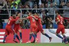 Chile's Martin Rodriguez, 2nd left, celebrates after scoring his side's first goal during the Confederations Cup, Group B soccer match between Chile and Australia, at the Spartak Stadium in Moscow, Sunday, June 25, 2017. (AP Photo/Ivan Sekretarev)