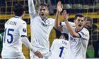 Οι ποδοσφαιριστές της Αταλάντα στο παιχνίδι του Europa League με αντίπαλο την Ντόρτμουντ