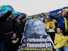 Διαδήλωση υποστηρικτών του προέδρου της Φενέρμπαχτσε, Αζιζ Γιλντιρίμ έξω από δικαστικό μέγαρο με αφορμή την εκδίκαση υπόθεσης στημένων αγώνων με περισσότερους από 90 υπόπτους, για 19 ματς της τούρκικης λίγκας.