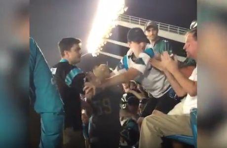 Σοκαριστικός ξυλοδαρμός φιλάθλου σε αγώνα NFL!
