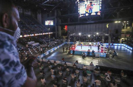 Πανοραμική άποψη ενός αγώνα πυγμαχίας στη Νικαράγουα