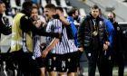 Οι παίκτες του ΠΑΟΚ πανηγυρίζουν γκολ υπό το βλέμμα του προπονητή τους, Πάμπλο Γκαρσία, κόντρα στην Αϊντχόφεν για τη φάση των ομίλων του Europa League 2020-2021 στο γήπεδο της Τούμπας | Πέμπτη 5 Νοεμβρίου 2020