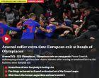 Άρσεναλ-Ολυμπιακός: Οι Άγγλοι ξέχασαν τα λογοπαίγνια στους τίτλους των ΜΜΕ