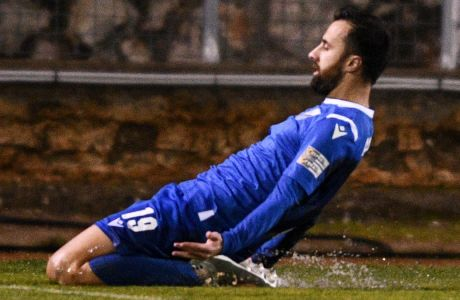Ο Μπατσάνα Αραμπούλι πανηγυρίζει ένα εκ των δύο τερμάτων που πέτυχε στη νίκη της Λαμίας με σκορ 2-0 επί του Άρη, για την 14η αγ. της Super League Interwetten   04/01/2021 (ΦΩΤΟΓΡΑΦΙΑ: ΑΝΤΩΝΗΣ ΝΙΚΟΛΟΠΟΥΛΟΣ / EUROKINISSI)