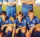 Ο Νταβίδ Φουστέρ σε ηλικία 12 ετών, με τη φανέλα της UD Oliva και το περιβραχιόνιο του αρχηγού (1994).