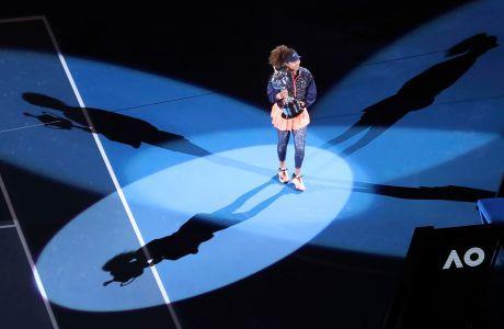 Η Ναόμι Οσάκα πανηγυρίζει την κατάκτηση του Αυστραλιανού Όπεν 2021 στον τελικό με την Τζένιφερ Μπρέιντι στη 'Ροντ Λέιβερ Αρένα', Μελβούρνη | Σάββατο 20 Φεβρουαρίου 2021