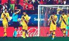 Οι παίκτες της Μπαρτσελόνα απογοητευμένοι μετά από το γκολ που δέχθηκαν από την Οσασούνα, σε αναμέτρηση για την Primera Division 2019-2020 στο 'Σαδάρ', Παμπλόνα, Σάββατο 31 Αυγούστου 2019