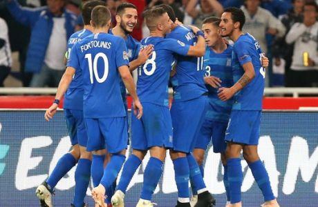 UEFA NATIONS LEAGUE / ÅËËÁÄÁ - ÏÕÃÃÁÑÉÁ (ÖÙÔÏÃÑÁÖÉÁ: LATO KLODIAN / EUROKINISSI)