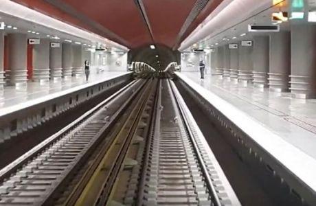 Δείτε video με την άφιξη του μετρό στο νέο σταθμό ΚΟΡΥΔΑΛΛΟΣ
